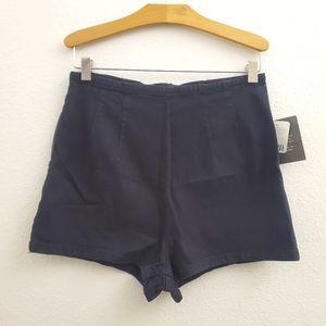 NWT BDG High Waist Black Stretch Denim Shorts SK19